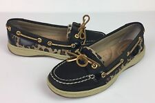SPERRY Women's Boat Shoes Leopard Leather Slip-On Top Sider