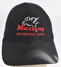 Black Mustang Motorcycle Seats Company Embroidered baseball hat cap Adjustable