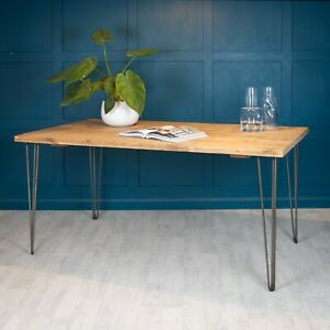 Dining Table / Bench Reclaimed Rustic Wood [Optional Hairpin Legs] Scaffold