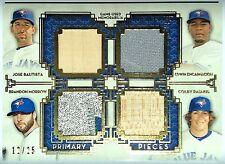 2014 Topps Museum BAUTISTA ENCARNACION RASMUS MORROW 12/25 Quad Game Used Relics
