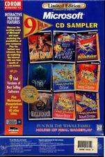 Limited Edition Microsoft 9 PAK CD Sampler (PC-CD, 1996) Windows - NEW in BOX