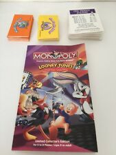 Monopoly Looney Tunes Replacement Parts Title Cards Instructions & More