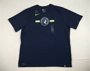Minnesota Timberwolves Nike Short Sleeve Shirt Men's New Multiple Sizes