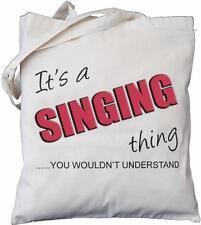 es ist ein gesungenes thing-sie würden nicht verstehen-natur baumwolltasche