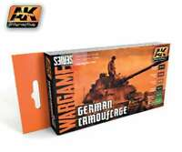 AK Interactive Wargame German Camouflage Acrylic Paint Set (6) 17 8436535511674