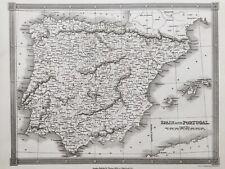 1841 Antique Map; Spain & Portugal - Alexander Findlay