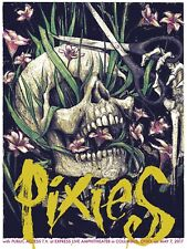PIXIES official concert poster screen print signed numbered 18x24 columbus oh