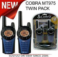 Cobra PMR 446 MT975 |Walkie Talkie Radio|Twin Pack BLK/BLU|LCD Screen|12km Range