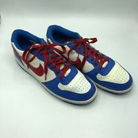 Nike Rare Men's Dunk Low Red White Blue Vintage 2009 Sneakers 355152-161 US 14