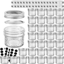Mason Jars Canning Jars, 4 OZ Jelly Jars With Regular Lids and Bands, Ideal