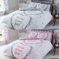 New Flutter Heart Duvet/ Quilt Cover Bedding Set With Pillow Case Double King