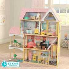 Kidkraft Lola Mansion Dollhouse with EZ Kraft Assembly™ | Includes Accessories