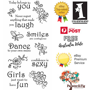 Motivational Sentiments Stamps, Never Regret Anything that Made you Laugh, Smile