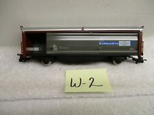W-2 Marklin HO #4729 Freight Car W/ Sliding Sides & Roof Made in West Germany