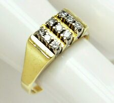 Edler Damenring Brillantring 14 Karat 585 Gold 5,66 g Brillanten 0,27 ct Gr. 60