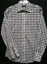 Men's Dsquared2  Size 52     Black Red White Plaid Long Sleeve Shirt  EUC!