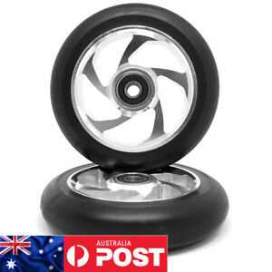 2 x 110mm ALLOY GR!ND STUNT SCOOTER WHEELS ABEC 9 BEARINGS (V2) - FREE POST