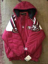 NWT XL San Francisco 49ers NFL STARTER PRO-LINE Puffer Heavy Jacket ~ *RARE VTG*