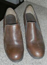 Born Concept BOC Brown Leather Clogs Slip On Shoes Women's Size 10M EUR 42