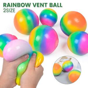 1X anti-stress balle arc-en-ciel vent balle jouets adhd arthrite autisme enfa UV
