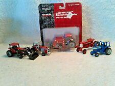 5 Ertl 1:64  Tractors MF 2775 Case IH 7130 Farmall 350 Ford TW 20 Case Mx 100