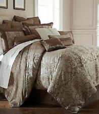 Waterford Ballina King Comforter Pillows Euros 9Pc Set Mocha Cocoa Taupe Silver