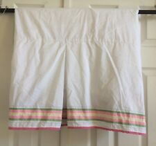 POTTERY BARN KIDS Twin Bed Skirt Dust Ruffle Striped Cottage Country Pink Green
