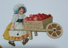 Vintage Valentine Card Germany Victorian Die Cut Mechanical c.1930 Lot of 6 C6
