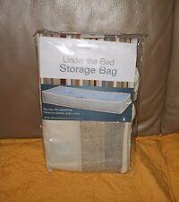 Simplify tan ivory under bed zipper bag storage clothes blanket quilt 40x18x6