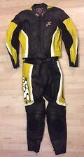 2-tlg. Lederkombi IXS Gr. 50 Top! Motorradkombi Schwarz Gelb Weiß Leather Suit
