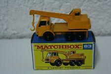 Matchbox Lesney Dodge Crane grúa Truck camiones no 63 vintage old
