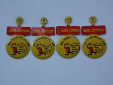 Vintage Aunt Jemima Pancake Club Fold Over Tab Pin Buttons Lot of 4