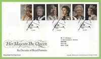 G.B. 2013 Royal Portraits set on Royal Mail First Day Cover, London SW1