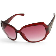 Guess GUF217 Polished Burgandy/Red Gradient Oversized Women's Sunglasses