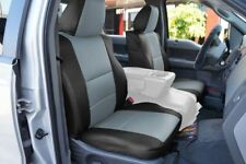 FORD F-150 04-08 S.LEATHER FRONT SEAT COVER NO BUILT IN SEATBELT BLACK/GREY
