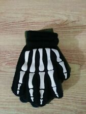(Skeleton) Boy's Pack of 3 Gloves Stretch To Fit NWT!