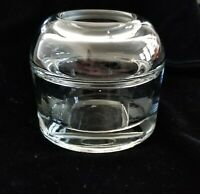 Vintage Unique Round Glass Inkwell With Ink Insert