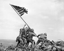 AMERICANS RAISING THE FLAG ON IWO JIMA WWII 16x20 SILVER HALIDE PHOTO PRINT