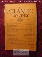 ATLANTIC June 1929 Andre Maurois Reinhold Niebuhr Lewis Carroll Edward Weeks