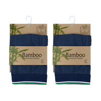 2 Pack Men Bamboo Boxer Shorts with Cotton Fiber Durable Velvety Breathable Soft