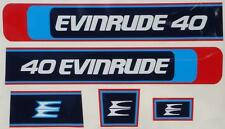 Evinrude Outboard Hood Decals 1976 40/55 hp