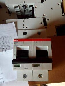 ABB solar/UPS AC MCB S802B-D80 80Amp 16kA 2 pole MCB. D CurveCircuit Breaker