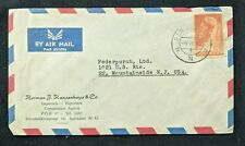 1955 Paramaribo Suriname Advertising Airmail Cover to Mountainside New Jersey