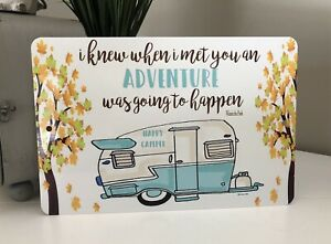 Happy Camper Metal Sign - Camping Decor -Camping Quote Sign - Vintage Camper