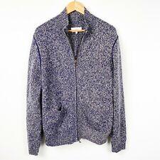 Jack Spade Bleecker Street New York Blue Mock Neck Full Zip Sweater Large L