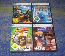 PC SPIELE BUNDLE MADAGASCAR + Oben + Ratatouille + Monsters PC SPIELE ZUM FILM