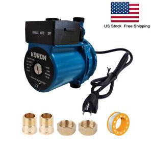 NPT 3/4'' Automatic Booster Pump 110-120V Domestic Hot Water Recirculating Pump