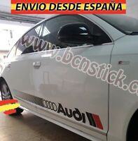 2X Laterales Adhesivas Decal stickers De Vinilos Coche Audi Sport RS 174x14cm