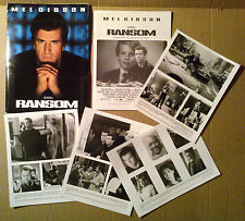 Press kit~ RANSOM ~1996 ~Mel Gibson ~Rene Russo ~Brawley Nolte ~Ron Howard
