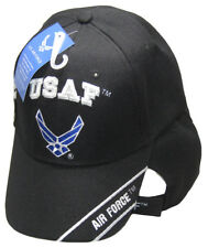 USAF United States Air Force Wings With Shadow Black Embroidered Cap